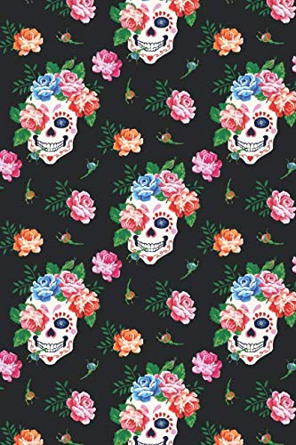Day Of The Dead Pattern | Sugar Skull Santa Muerte 21: Blank Lined Journal for Day Of The Dead Lovers]()