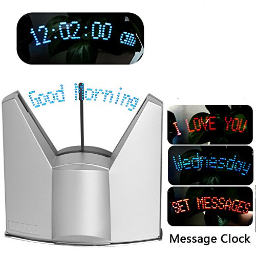 Suspended Table Display (BEST4UBUY LED Dynamic Display Programmable Message Clock (Silver))
