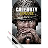 Poster + Hanger: Call Of Duty Poster (36x24 inches) Stronghold, WWII Key Art And 1 Set Of Transparent 1art1® Poster Hangers
