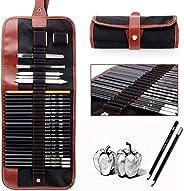XIANGMENG 29 peças portáteis/conjuntos de ferramentas de desenho de esboço para iniciantes, kit de ferramentas
