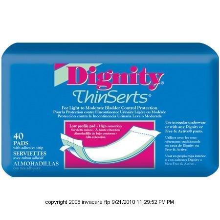 Dignity Thinserts Pads (Dignity ThinSerts Pads, Dignity Thinserts Pads, (1 PACK, 45 EACH) by HARTMANN-CONCO)