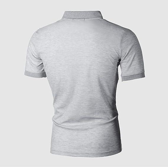Etecredpow Men Casual Sports Tee Polos Slim Fit Short Sleeve Top T-Shirt