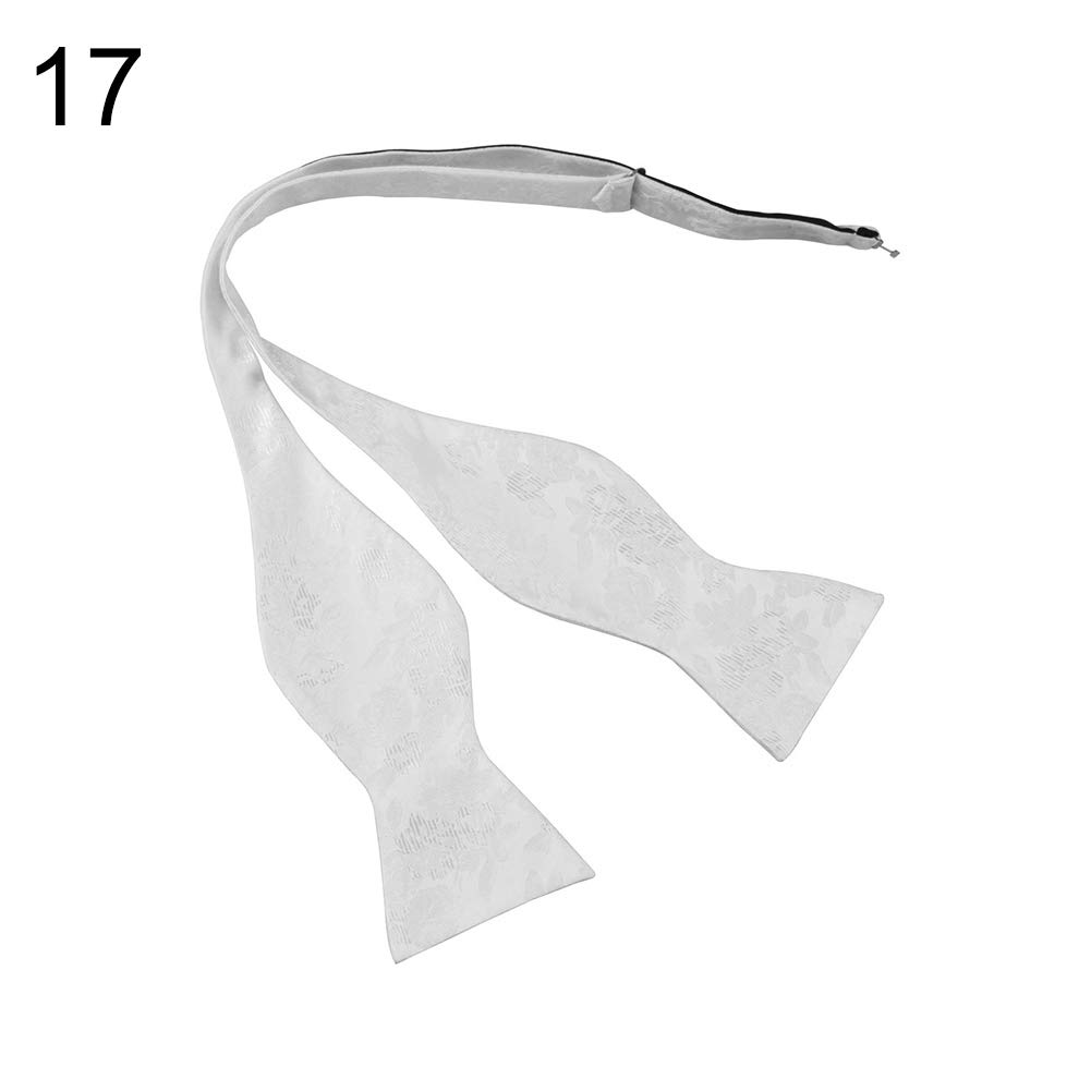 Infgreate Stylish Business And Durable Men Adjustable Self Bow Ties Necktie Neckwear Business Wedding Party Supplies