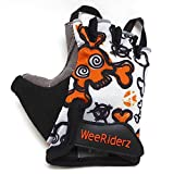 ZippyRooz Toddler & Little Kids Bike Gloves for Balance and Pedal Bicycles (Formerly WeeRiderz) For Ages 1-6 Years Old. 4 Designs for Boys & Girls (Skulls, Little Kids Medium (3-4))