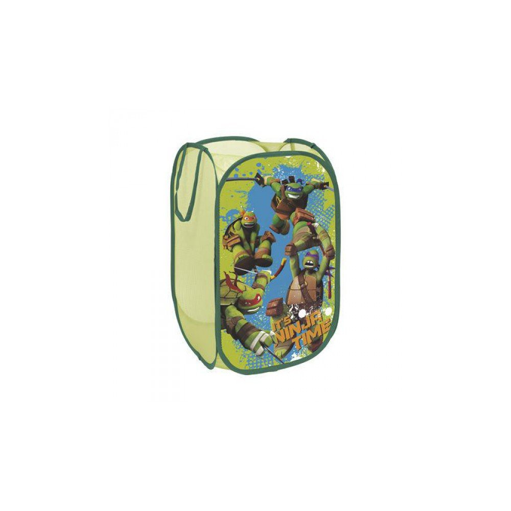 North Star TN 9266 Pop Up Toy Storage Ninja Turtles, Polyester, Multi-Coloured