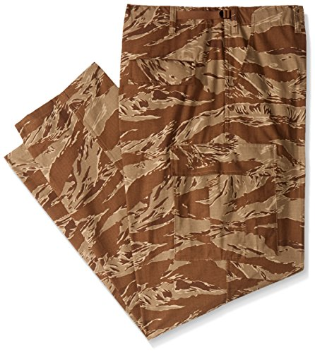 (TRU-SPEC Men's Rip Stop BDU Pant - Medium Long - Desert Tiger Stripe )
