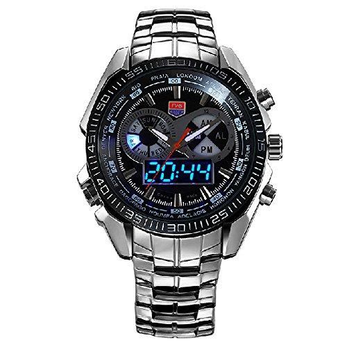 Amazon.com: TVG 468 Men 3 Dial LED Display Analog-Digital Military Wrist Watch: Watches