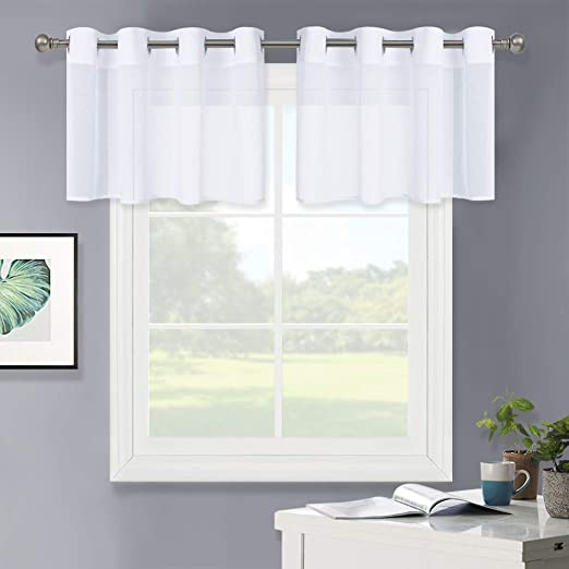 """NEW COLLETION 2 PANELS SEMI-SHEER GROMMET WINDOW CURTAIN DRAPES 55/"""" WIDE EACH"""