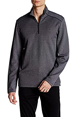 Calvin Klein Men's Jacquard Quarter Zip Sweater
