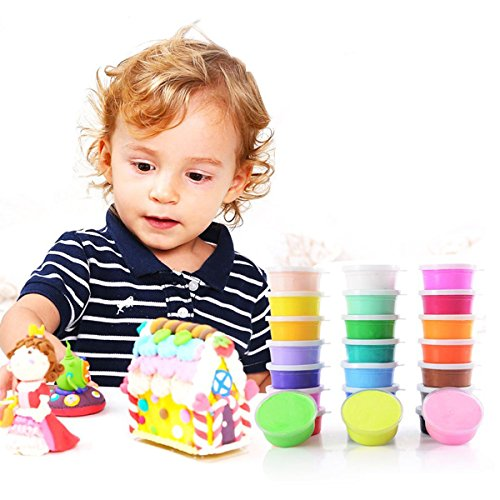 Polymer Clay,Lillypet 24 Colors Large Capacity Modeling Magic Clay Air Dry for Kids, Non-toxic, Easy