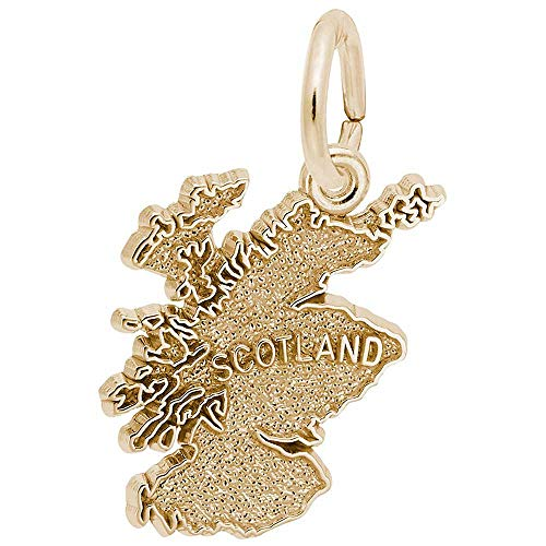 Rembrandt Scotland Map Charm, Gold Plated Silver ()