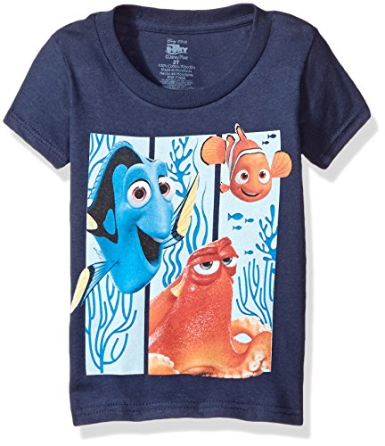 Disney Boys Toddler Boys Finding Dory Hank, Nemo, and Dory Short Sleeve T-Shirt