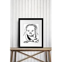 Baby Kisses - Nursery Ink Drawing - Art Print