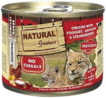Natural Greatness Comida Húmeda para Gatos de Pollo con Yogur ...