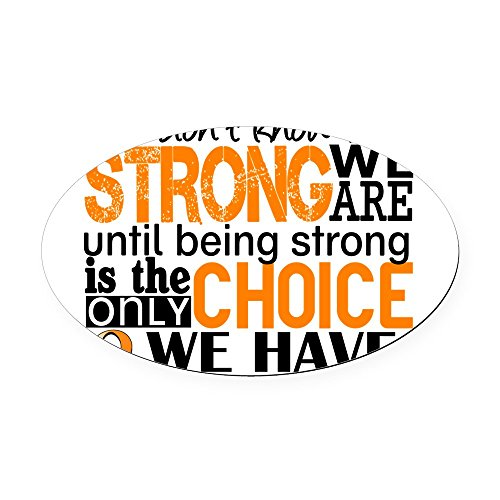 CafePress - Leukemia HowStrongWeAre Oval Car Magnet - Oval Car Magnet, Euro Oval Magnetic Bumper ()