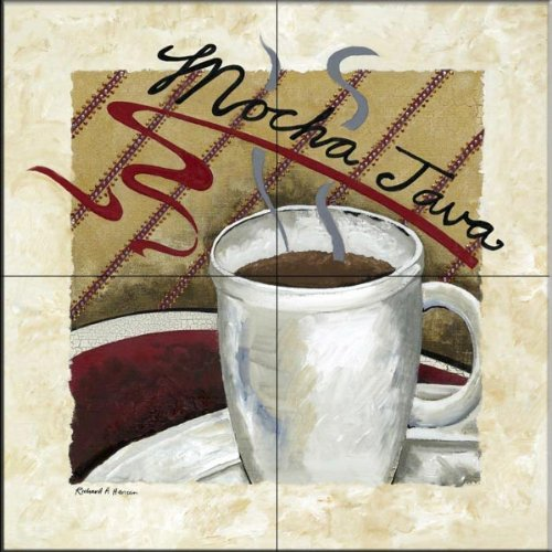 Mocha Java Accent - Mocha Java by Richard Henson - Kitchen Backsplash / Bathroom wall Tile Mural