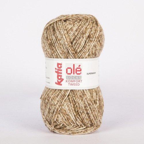 Katia Ole Socks Komfort Tweed Handstrickgarne 210 Meter Farbnummer 50