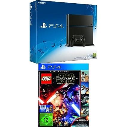 PlayStation 4 - Konsole (500GB, schwarz) [CUH-1216A] + LEGO Star Wars: Das Erwachen der Macht - Premium Edition