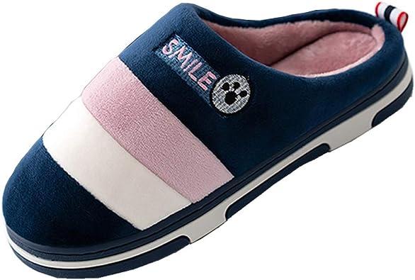 Zapatillas de Casa Mujer Hombre Invierno Pantuflas Algodon Peluche ...