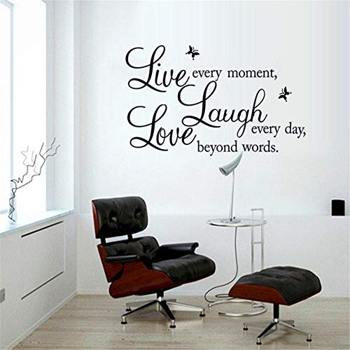 Nuben Wall Decals Peel Stick Removable Decor Live Laugh Love -