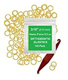 3/16 Inch Orthodontic Elastic Rubber Bands, 300