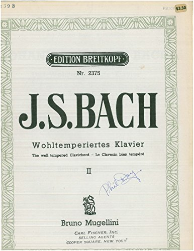 J.S. Bach Das Wohltemperierte Klavier II The well-tempered Clavier II BWV 870-893