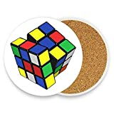 GTdgstdsc Rubiks Cube Coaster for Drinks Absorbent Stone Coaster, Cups Holder Coffee Mug Cup Mat Pack Of 1