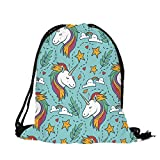 SOURBAN Unicon Printing Shoulder Bag Cute School Backpack Bookbag