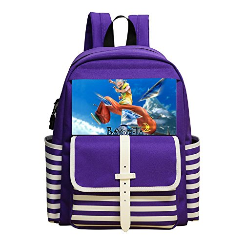 Loki Bayonetta Student Backpack School Bag Super Bookbag Break