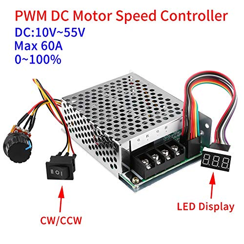 Motor Controller - Dc10v 55v Pwm Brushed Dc Motor Speed Controller Cw Ccw Reversible Switch With Digit Display - Plug Throttle Timer Display Controller Brushless Treadmill Stepper Switch L29 (Best Stepper Motor Controller)