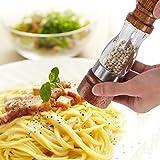 Salt & Pepper Grinder Set Wood Salt Pepper Mill Ceramic Adjustable Coarseness Cooking Gadgets 2 Pcs