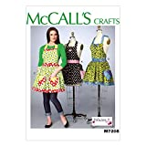McCall's Patterns M7208 Misses' Aprons and Petticoat Sewing Template, MISS (XSM-SML-MED-LRG-XLG)