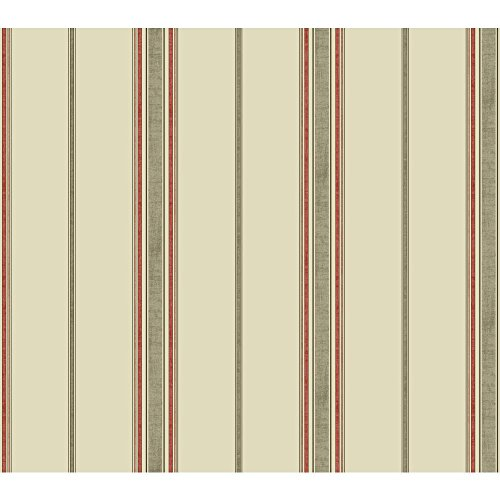 York Wallcoverings Waverly Kids Incense Stripe Removable Wallpaper, Beige/Taupe/Coral/Peach/Brown