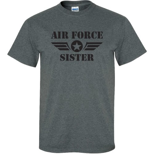 - Air Force Sister Short Sleeve T-Shirt in Dark Heather Gray - Small