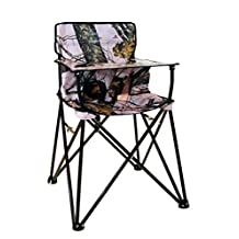 Ciao! Baby Portable High Chair, Pink - Mossy Oak with Carrying Case