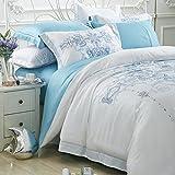 Satin set of four high-grade silk-like fine soft sliding european-american bed four sets-X King