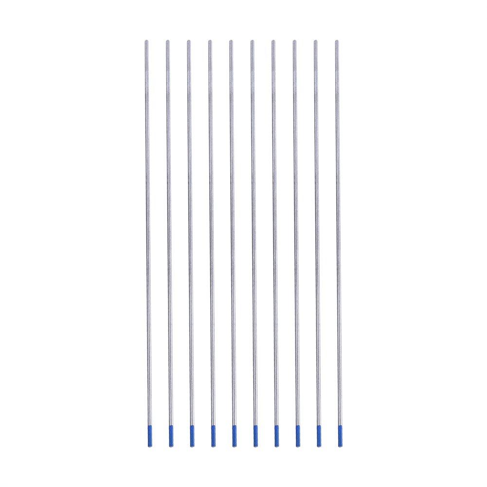 1 caja aleaciones de n/íquel 10pcs WL20 Electrodo Lantano de soldadura de tungsteno azul para la soldadura DC de aceros inoxidables 1.6 * 175mm aluminio,1.0//1.6//2.4mm