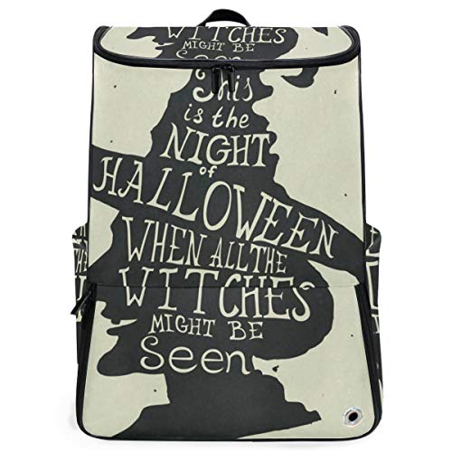 Laptop Backpack Halloween Grungy Witch In Hat Quote