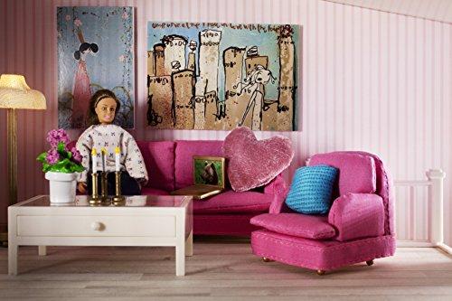 Amazon.com: Lundby Smaland Dollhouse Sitting Room Set, Pink: Toys ...