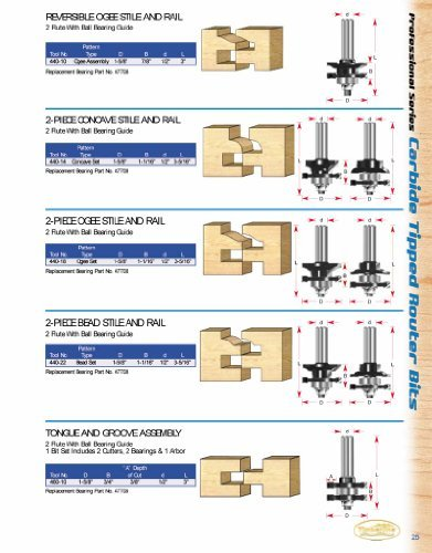 (Timberline 440-18 Stile And Rail Ogee Style Set by Timberline)