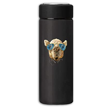 31275aef304c Amazon.com: Oopp Jfhg Camel Wearing Glasses Frosted Thermos Bottle ...