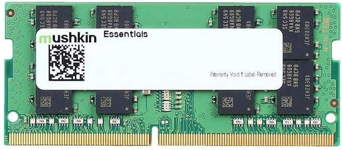 Mushkin Essentials – DDR4 Laptop DRAM – 32GB (1x32GB) SODIMM Memory – 2666MHz (PC4-21300) CL-19 – 260-pin 1.2V Notebook RAM – Single Module – Low-Voltage – (MES4S266KF32G)