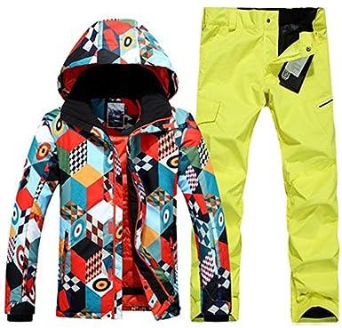 LEIT YFF Mens ski Snowboard Traje Traje de Chaqueta y pantalón de ...