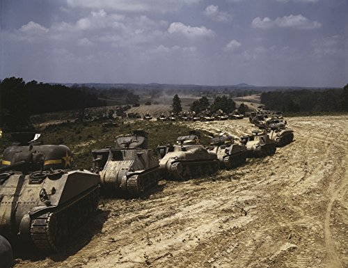 Convoy of M4 Sherman and M3 Grant Tanks at Fort Knox, for sale  Delivered anywhere in Canada