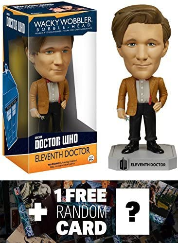 Eleventh Doctor Doctor Who x Wacky Wobblers Series 46354 1 Free Official Dr Who Trading Card Bundle