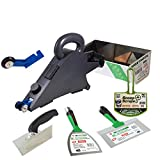 Delko Drywall Taping Banjo Tool with Sheetrock Mud Pan, Matrix Knives, Adjustable Corner Trowel and Bucket Scoop