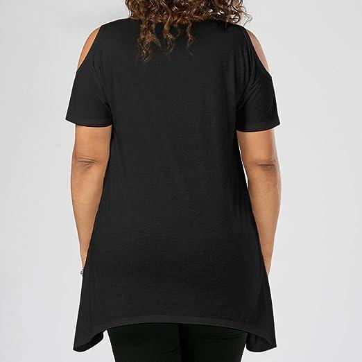 LILICAT® Camisetas Mujeres tallas grandes (XL-5XL), 2018 Mujeres Moda estampadas flores Blusas frías Básicas Básicas: Amazon.es: Deportes y aire libre
