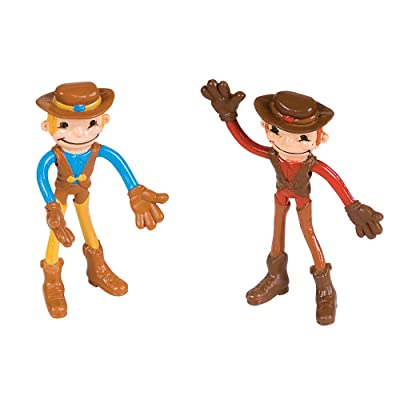 "Rhode Island Novelty 4"" Bendable Cowboy: Toys & Games"