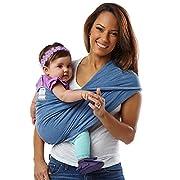 Baby K'tan ORIGINAL Cotton Wrap style Baby Carrier, Denim, Medium