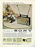 Springtime is Portable Time the season for Sony Fm/Am Portable Radio ad 1961